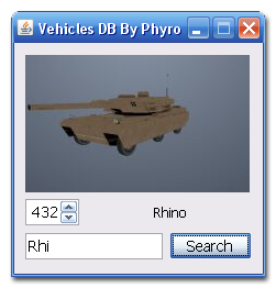 [APP] Vehicles DB include search by name, ID